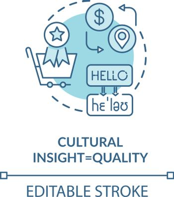 Cultural insight turquoise concept icon