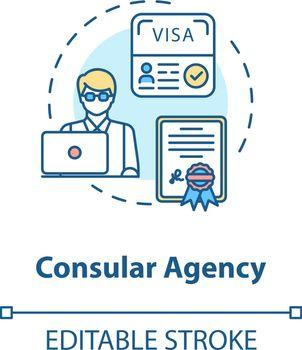 Consular agency concept icon