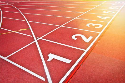 Athletics track background.