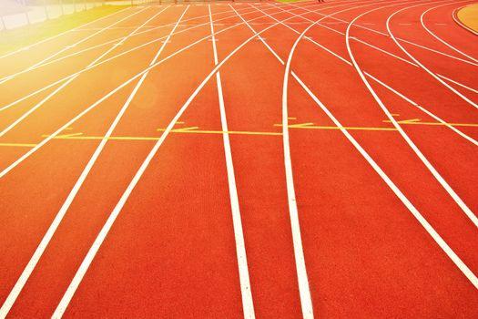 Athletics track pattern background.