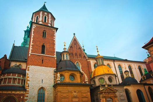 The Royal Archcathedral Basilica of Saints Stanislaus and Wenceslaus on Wawel, Cracow, Poland.