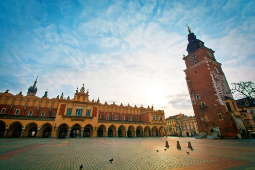 Main Square Cloth Hall in Cracow, Poland.