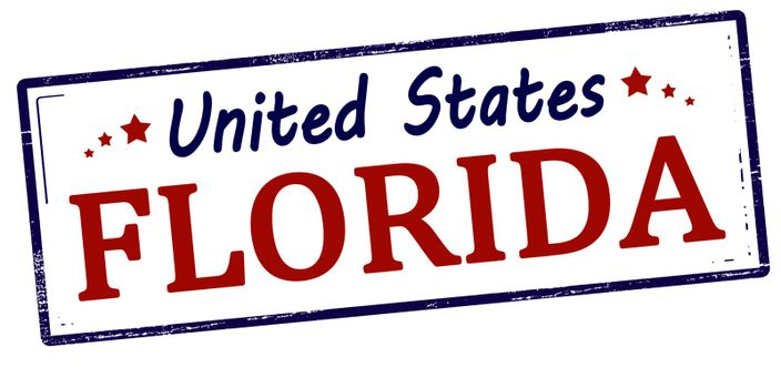 Rubber stamp with text Unites States Florida inside, vector illustration