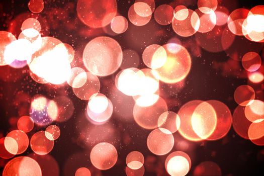 Twinkling red and orange lights