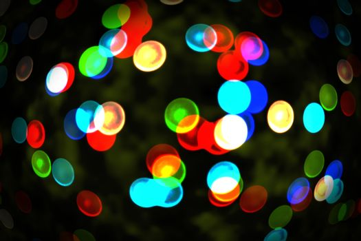 Twinkling blue and red lights