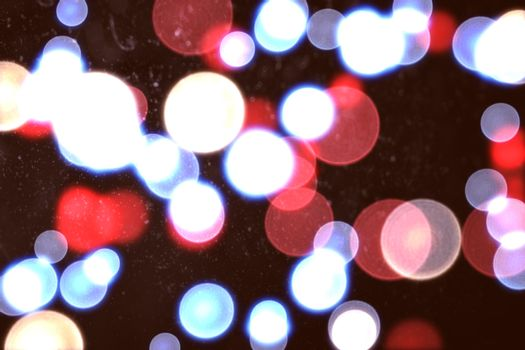 Twinkling red and blue lights