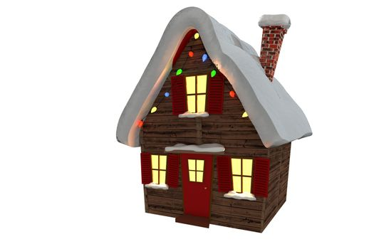 Christmas house with twinkling lights