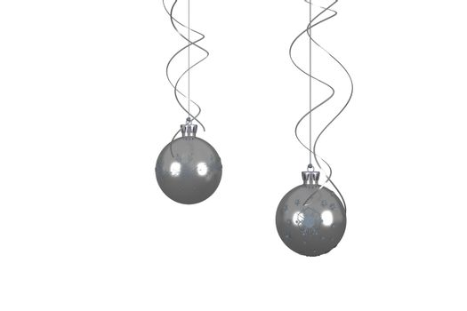 Hanging christmas bauble decorations