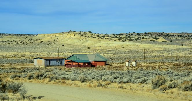 Lonely Desert House in New Mexico USA
