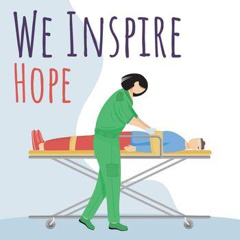 We inspire hope social media post mockup