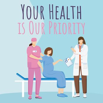 Prenatal clinic social media post mockup