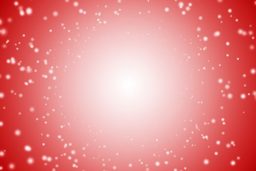 White light dots on red