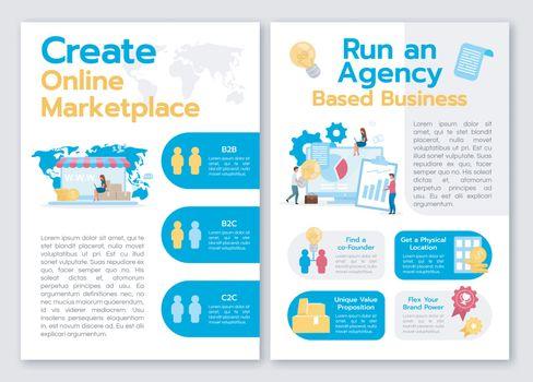 Create online marketplace brochure template