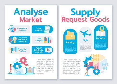 Analyse market brochure template