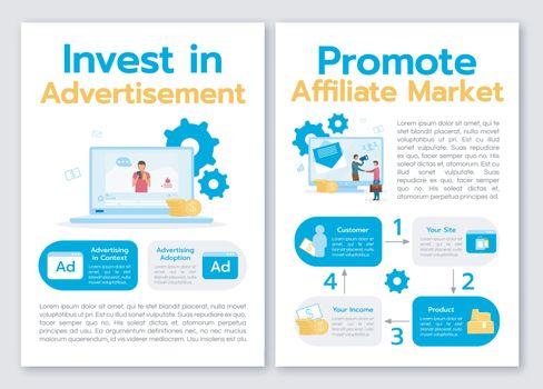 Invest in advertisement brochure template