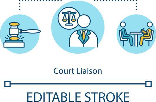 Court liaison concept icon