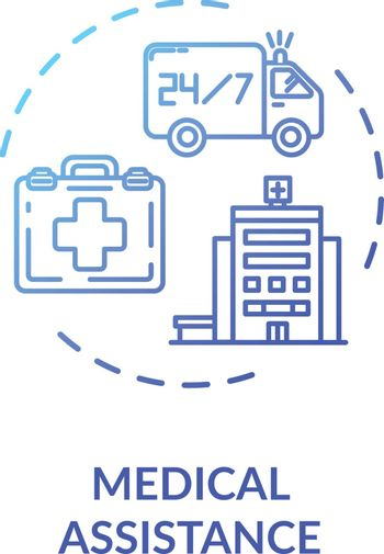 Medical assistance concept icon