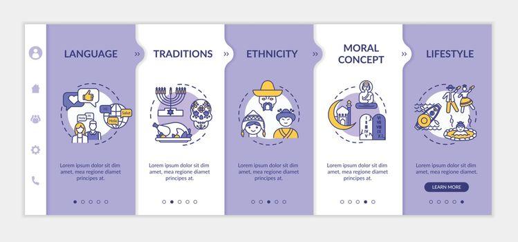 Multiculturalism onboarding vector template