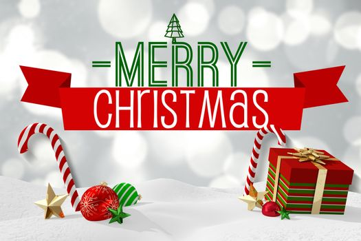 Christmas message with graphics