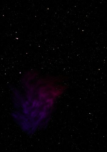 Star field and distant cold space nebula.