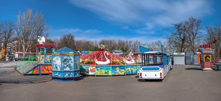 Quarantined Luna Park in Odessa, Ukraine
