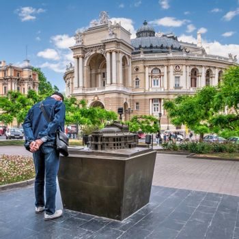 Odessa, Ukraine 22.05.2020. Odessa Opera and Ballet House in Ukraine on a sunny spring day