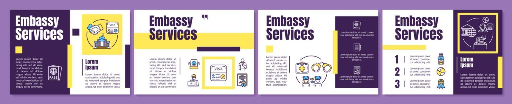 Embassy assistance brochure template