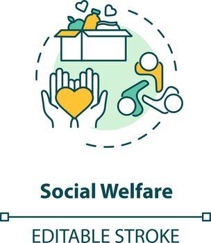 Social welfare concept icon