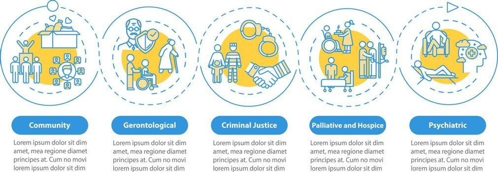 Community welfare vector infographic template