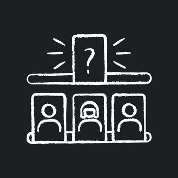 Storytelling game chalk white icon on black background