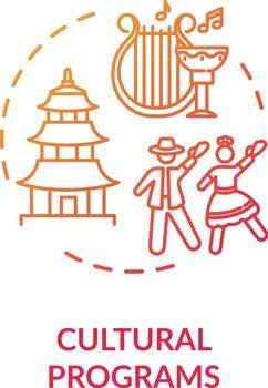 Cultural programs concept icon