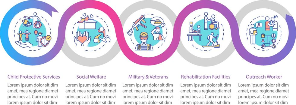 Social welfare vector infographic template