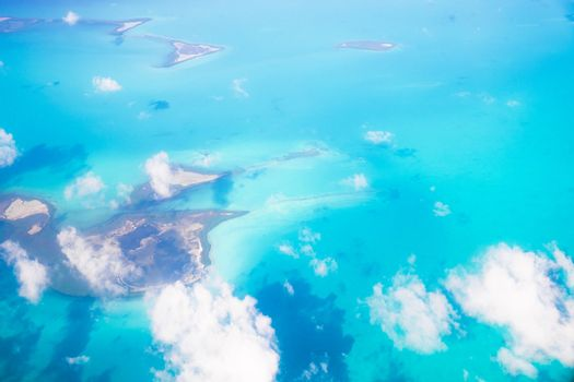Beautiful view of idyllic islands from above