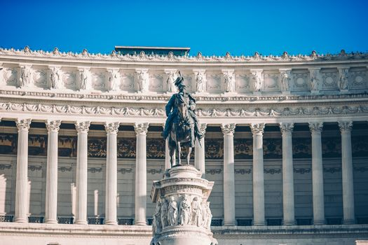 Monument Vittorio Emanuele II or Altar of the Fatherland in Roma, Italia.