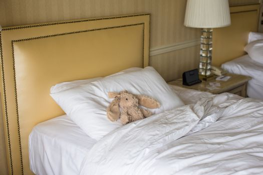 Room with bed and plush toy