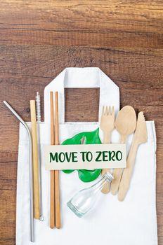 Zero waste concept. Textile eco bags.