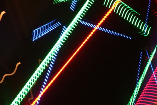 Abstract slow shutter lights