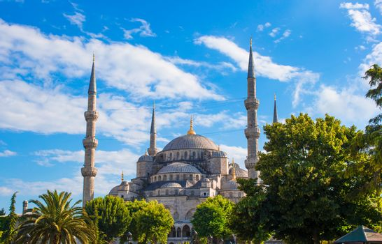 Blue Mosque in Istanbul, Turkey, Sultanahmet district