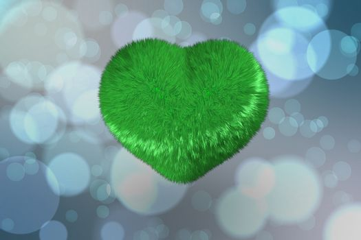 Large fuzzy green heart