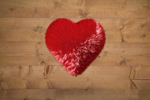 Large furry red heart