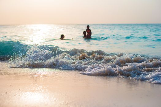 Idyllic perfect water at exotic island