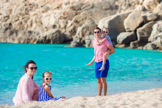 Happy family on vacation in Europe