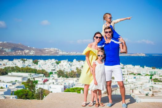 Family vacation outdoors in Europe