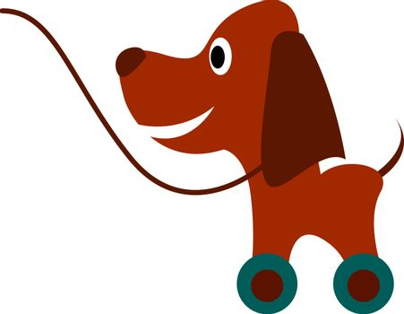Dog toy, illustration, vector on white background.