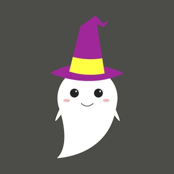 Ghost, illustration, vector on white background.