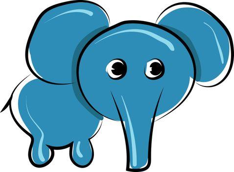Small elephant, illustration, vector on white background.