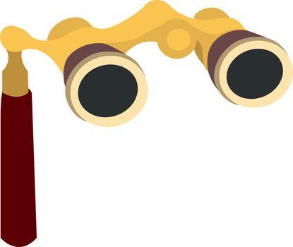 Opera glasses, illustration, vector on white background.