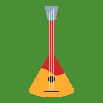 Guitar, illustration, vector on white background.