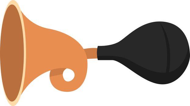 Bike horn, illustration, vector on white background.