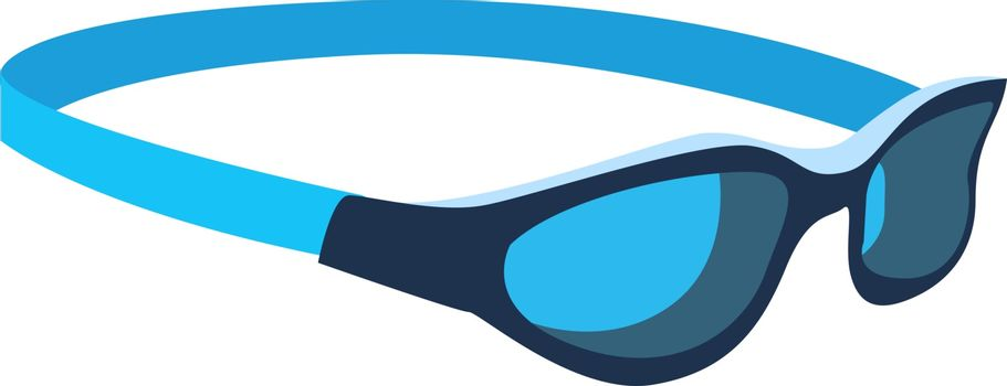 Swimming goggles, illustration, vector on white background.